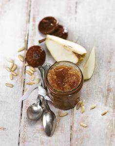 Confiture de poires aux figues sèches et aux pignons Dessert, Preserves, Food Porn, Christine Ferber, Canning, Sweet, Pears, Fruit Jam, Grout