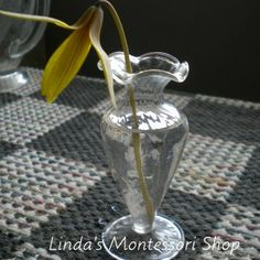 Montessori Practical Life, Dandelions, Small Flowers, Vases, Classroom, Spring, Class Room, Little Flowers, Tiny Flowers