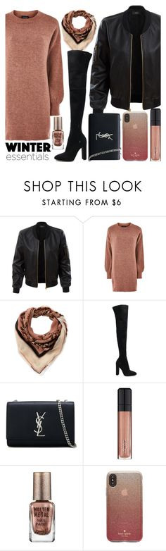 """""""Winter Essentials: After Vacations"""" by cm-christy ❤ liked on Polyvore featuring LE3NO, Topshop, Vince Camuto, Gianvito Rossi, Yves Saint Laurent, L'Oréal Paris, Barry M, Kate Spade and modern"""