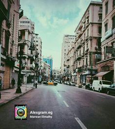 Downtown. Sunday morning .. It's a day off. Alexandria.Egypt.