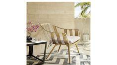 gala gold lounge chair. cb2.