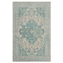 Safavieh - Rectangular Area Rug in Ivory and Turquoise