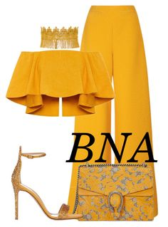 """BNA"" by deborahsauveur ❤ liked on Polyvore featuring Emilia Wickstead, Gucci, Haati Chai and Gianvito Rossi"
