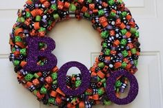 Boo Wreath! Buy the material to make it yourself here for $43.99.