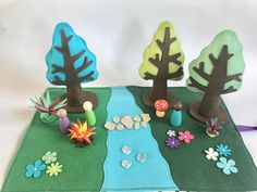 Woodland Play Mat Felt Play Mat Complete Set Forest Play | Etsy