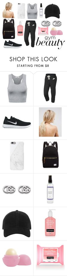 """""""Gym Workout - Gym Beauty"""" by massieblock2003 on Polyvore featuring NIKE, ASOS, Herschel Supply Co., Gucci, The Laundress, rag & bone and Eos"""