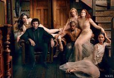 Annie Leibovitz group portrait. Few do groups better than Annie Leibovitz. Again - timeless photography, modern fashion, in a classical setting. I'm pinning this not because of the design elements, but because of the story, the feel of the photograph, the connection between the group with each other and their connections with us. Wonderful.