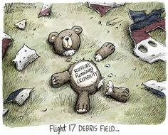 FLIGHT 17 DEBRIS FIELD... | Jul/23/14 Cartoon by Adam Zyglis - Debris Field