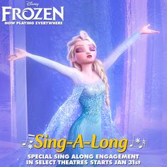 Starting next Friday, you'll have the option to see Frozen in a special Sing-A-Long version in select theatres across the country! Stay tuned to find out when you can get tickets.