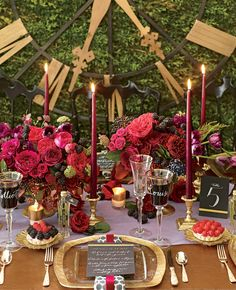 Jewel-Toned Table De