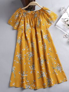 ZHI Bohemian Floral Printed Off Shoulder Short Sleeve Dresses is high-quality, see other cheap summer dresses on NewChic. Cheap Summer Dresses, Stylish Dresses For Girls, Stylish Dress Designs, Frocks For Girls, Baby Summer Dresses, Baby Girl Dress Design, Girls Frock Design, African Dresses For Kids, Latest African Fashion Dresses