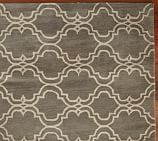 Scroll Tile Rug Swatch, Gray/Ivory