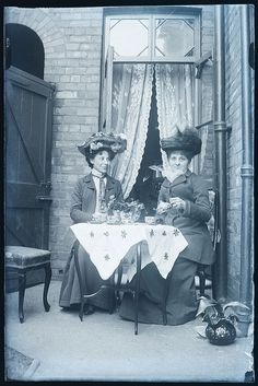Tea with friends, and one must wear one's finest hat! | Flickr - Photo Sharing!