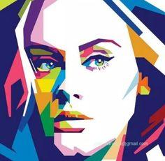 Adele Pop Art Wrap rolling stones magazine picture into pop art
