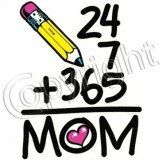 24 + 7 + 365 = MOM by Mychristianshirts on Etsy