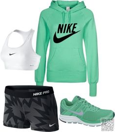 10. Mint + Grey - Don't Know What to Wear for Your #Workout? 25 Amazing Workout #Styles to Steal! → #Fitness #Amazing