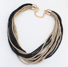 2015 À La Mode Femmes Déclaration Collier Soie Colliers Pendentifs De Mode Long Collier Bijoux Tendances Pour Cadeau De Mariage De Partie