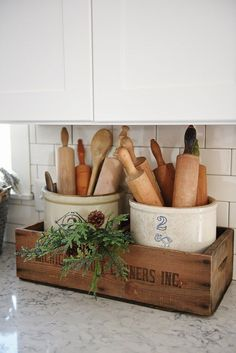 Charming Farmhouse Kitchen DIYs - One Crazy House Don't you love the rustic charm of a farmhouse kitchen? And you know how much we enjoy home projects, so we've put together our favorite farmhouse kitchen DIYs to make your space Kitchen Redo, Rustic Kitchen, Kitchen Storage, Primitive Kitchen, Copper Kitchen, Old Farmhouse Kitchen, Primitive Country, Country Kitchen Ideas Farmhouse Style, Primitive Decor