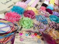 DIY Headbands Exact Flowers Pictured  by ShabbyFlowerBowtique, $49.99