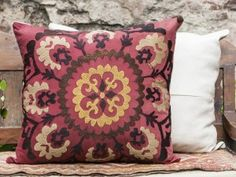 vintage suzani decorative pillow
