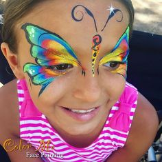 I never get tired of painting butterflies! #birthdayparty #orangecounty #colormefacepainting #facepainting #facepaint #butterfly #onestrokepainting