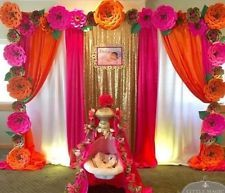 Large Paper Flowers Wedding Flowers Photo Backdrop Flower Wall Princess Birthday