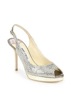 c45be4d966a Jimmy Choo - Nova Glitter-Covered Leather Peep-Toe Pumps Shop at Saks Fifth  Avenue at 150 Worth Ave in Palm Beach FL