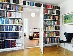 billy bookcase behind door - Google Search