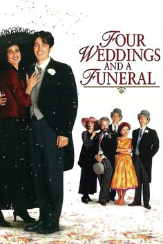 Four Weddings and a Funeral - Hugh Grant, Andie MacDowell, Kristin Scott Thomas, Simon Callow Beau Film, See Movie, Movie Tv, Buddy Movie, Movie Club, Great Films, Good Movies, Film Mythique, Movie Posters