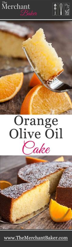 Orange Olive Oil Cake. A refreshingly light tasting yet very moist cake made with fresh squeezed orange juice, orange zest and your favorite mild olive oil. This is an easy and impressive cake to make!