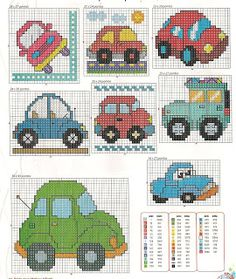 small cars cross stitch patterns