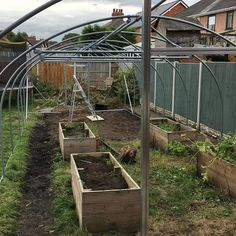 Both door frames and all the crop (brace) bars on. Both fittings for the second door had irregular bolt holes :-( #polytunnel Door Frames, Braces, Two By Two, Doors, Plants, How To Make, Instagram, Puertas, Button Suspenders