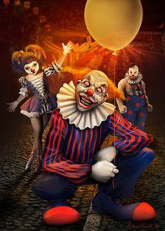 DeviantArt: More Like Oil Painting Sad Clown by Art-Sprinkle Joker Clown, Clown Horror, Creepy Clown, Creepy Halloween, Creepy Circus, Clown Hat, Joker Art, Royal Ballet, Body Painting