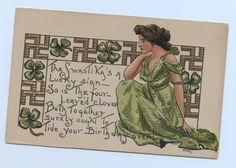 Pre-war  birthday card.
