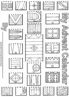 3 cute christmas coloring pages christmas colors sunday for Free advent calendar coloring pages