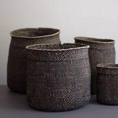 black iringa baskets