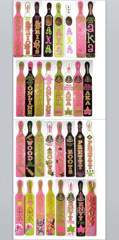 Alpha Kappa Alpha paddles