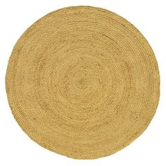 Add a touch of durable, natural style to your home or office with the Braided Natural Jute Rug.