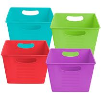 Merveilleux Bulk Brightly Colored Plastic Locker Bins With Handles At DollarTree.com