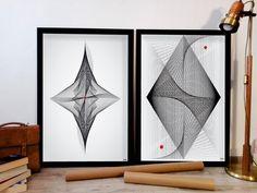 50x70 2 szt STRING ART SYMETRIA PLAKAT - ARTT - Dekoracje