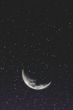 Обои Звездное небо Месяц Луна