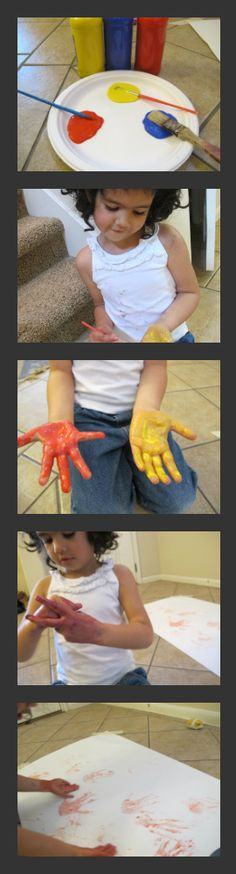 Color Mixing with Hands to Learn