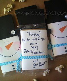 "Great teacher, coach, neighbor gift idea~ Make a tag ""Popping by tot wish you a merry Christmas!"""