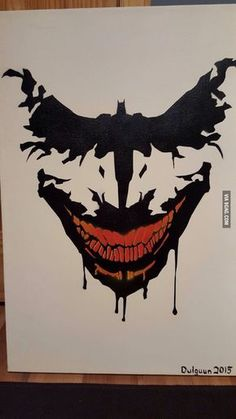 Funny pictures about Batman Painting. Oh, and cool pics about Batman Painting. Also, Batman Painting photos. Der Joker, Joker Art, Joker Batman, Batman Art, Batman Poster, Joker Comic, Gotham Batman, Batman Robin, Comic Books Art