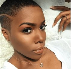 Bald Heads - Hairl Loss Tips Short Natural Haircuts, Natural Hair Cuts, Natural Hair Styles, Girl Short Hair, Short Hair Cuts, Short Hair Styles, Big Chop Styles, Short Pixie, Twa Hairstyles