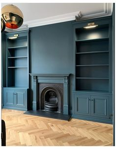 Dark Living Rooms, Living Room Green, New Living Room, Alcove Ideas Living Room, Living Room Storage, Living Room Designs, The Design Files, Küchen Design, Living Room Cupboards