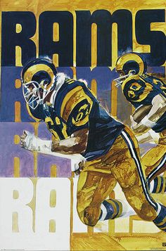 Pro Football Journal: 1972 Stancraft NFL Posters by George Bartell Football Art, Vintage Football, Football Helmets, Football Stuff, Football Uniforms, School Football, Sport Football, Football Players, Nfl Rams
