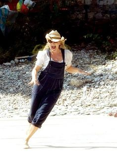 """On the set of """"Mamma Mia!"""" Meryl Streep is such a boss. Mamma Mia, Meryl Streep, Best Actress, Idole, Role Models, Actors & Actresses, Aesthetic Images, Movie Tv, Hollywood"""