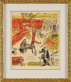 Chagall, Marc 1887 Peskowatik/Witebsk - 1985 Saint-Paul-de-Vence Revolution. Signiert. 1933-50. Fa