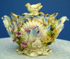 Coalbrookdale Sugar  Sucrier, Signed, John Rose Coalport, Antique 19th C English Porcelain